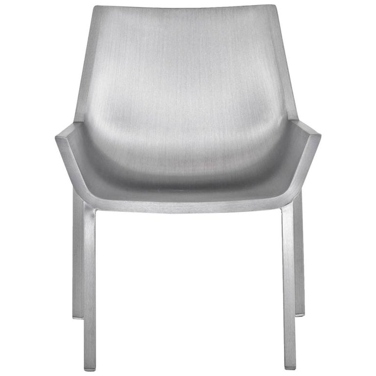 Emeco Sezz Lounge Chair in Brushed Aluminum by Christophe Pillet For Sale