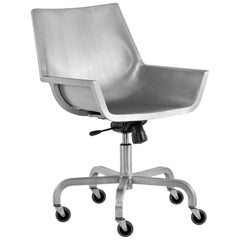 Emeco Sezz Swivel Chair w/ Castors in Brushed Aluminum by Christophe Pillet