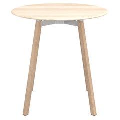Emeco Su Medium Round Cafe Table with Oak Frame & Accoya Wood Top by Nendo