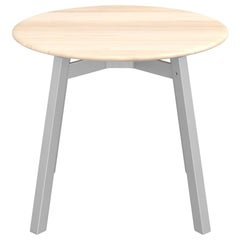 Emeco Su Round Low Table with Anodized Aluminum Frame & Wood Top by Nendo