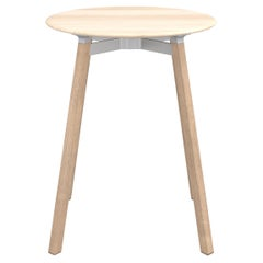 Emeco Su Small Round Cafe Table with Oak Frame & Accoya Wood Top by Nendo