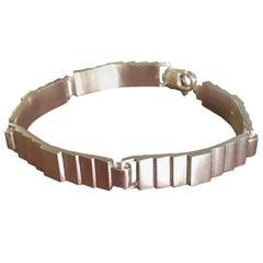 Emer Roberts Modern Sterling Silver Wide Links Bracelet