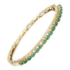 Emerald 14k Gold Bracelet
