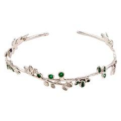 Emerald 18 Karat White Gold Bracelet