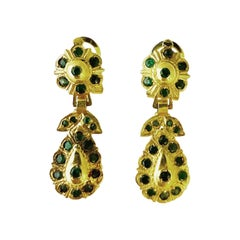 Emerald 18k Yellow Gold Clip-On Earrings