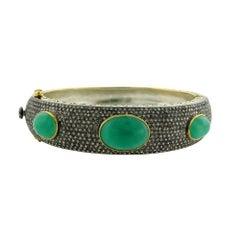Emerald and Diamond Bangle