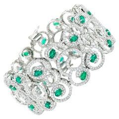 Emerald and Diamond Bracelet by Takat