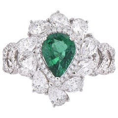 Laviere Emerald and Diamond Cocktail Ring