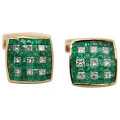 Emerald and Diamond Cufflinks