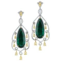 Emerald and Diamond Earring by RayazTakat