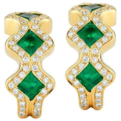 Emerald and Diamond Earring by Takat