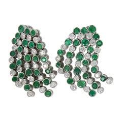 Emerald and Diamond Earrings in 18 Karat