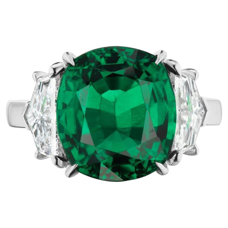 Emerald And Diamond Ring In Platinum By RayazTakat
