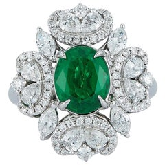 Emerald and Diamond Ring by Takat