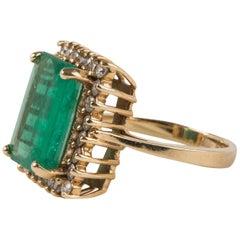 Emerald and Diamond Ring