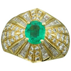 "Emerald and Diamond Ring in 18 Karat ""Terrell & Zimmelman"""