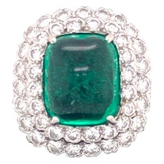 Emerald and Diamond Ruser Ring