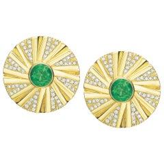 Emerald and Diamond Shazam Series Earrings