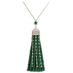 Emerald and Diamond Tassel