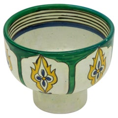 Emerald and Yellow Bowl