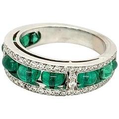 Goshwara Emerald Bead and Diamond Ring