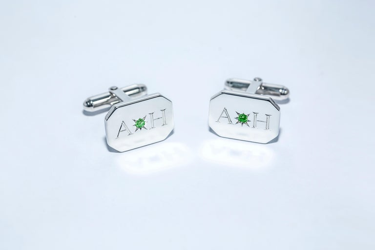 We believe in creating your own unique look by creating your own style.  These cufflinks are completely bespoke and exquisite for the discerning gentleman. Expertly hand crafted in solid sterling silver and hand engraved to your specification. These