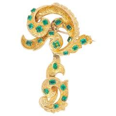 Emerald Brooch, 19th Century