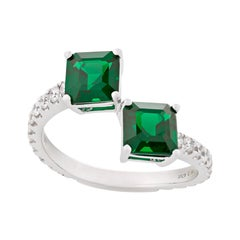 Emerald Bypass Ring, 2.47 Carats