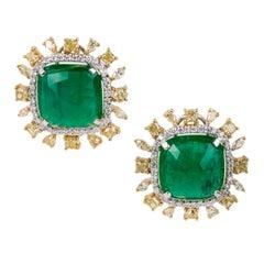 Emerald Checkerboard Earring