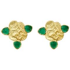 Emerald Cloud Earrings