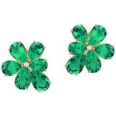 Goshwara Emerald Cluster Earrings