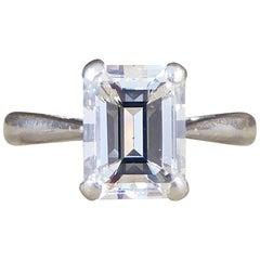 Emerald Cut 1.74 Carat Diamond Engagement Ring in Platinum