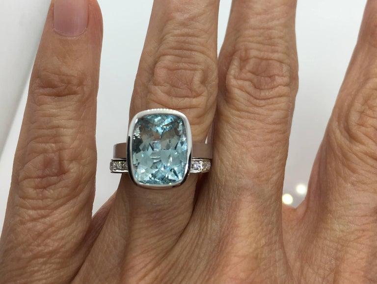 Emerald Cut Diamond Bezel Solitaire Ring For Sale 6