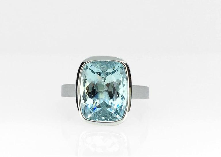 Emerald Cut Diamond Bezel Solitaire Ring For Sale 2