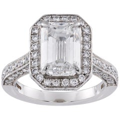 Emerald-Cut Diamond Cluster Ring