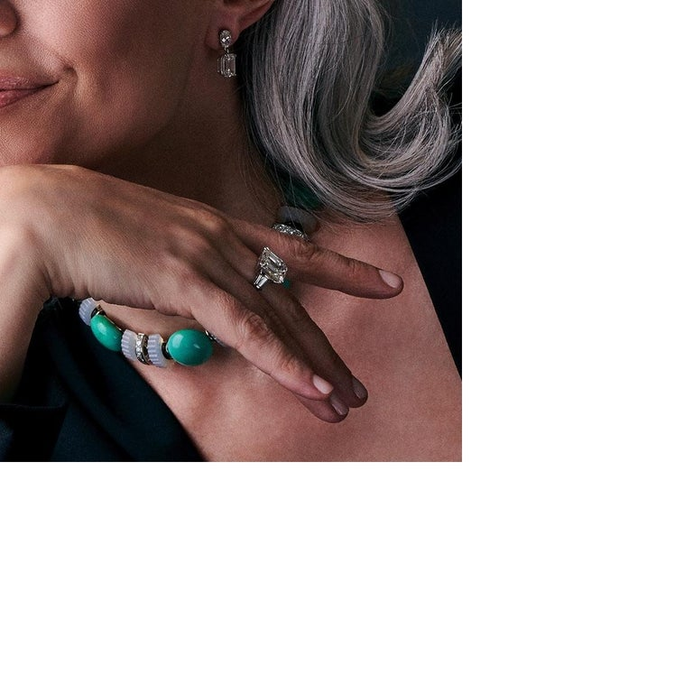 Women's Emerald Cut Diamond Engagement Ring For Sale