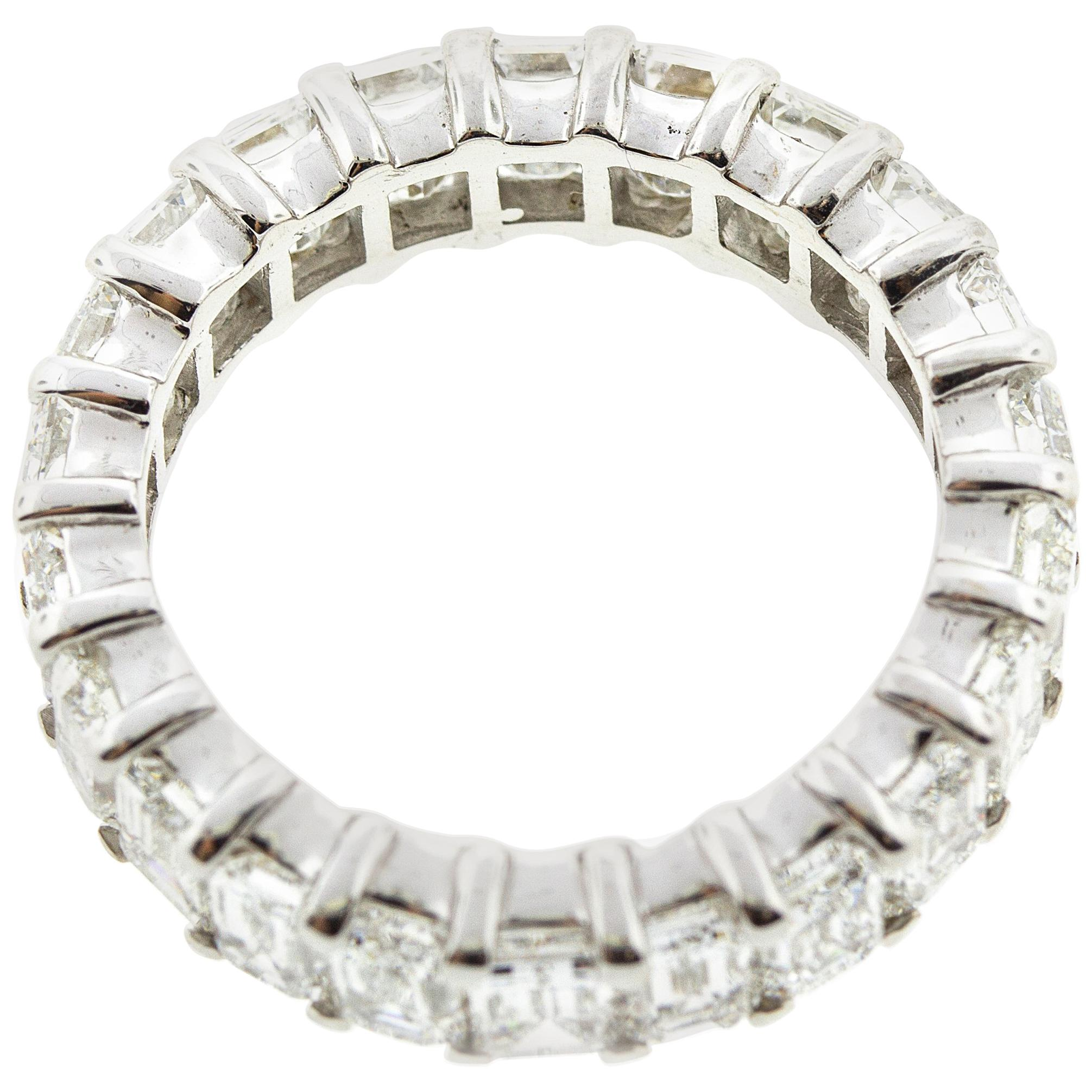 Emerald Cut Diamond Eternity Band 6.65 Carat