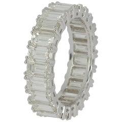 Emerald Cut Diamond Eternity Band Ring 7.91 Carat
