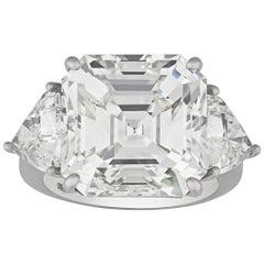 Emerald-Cut Diamond Ring, 13.16 Carat