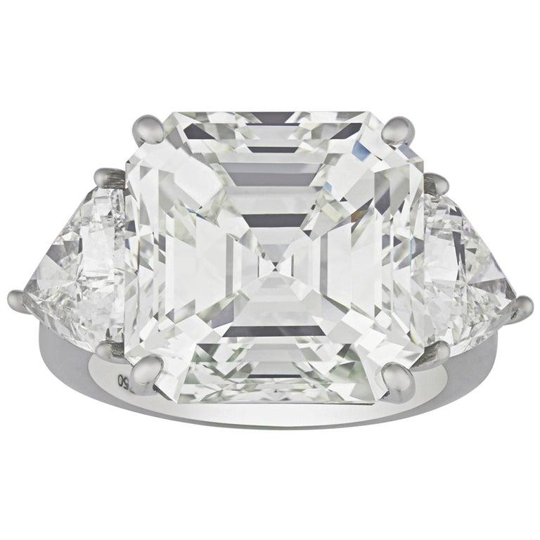 Emerald-Cut Diamond Ring, 13.16 Carat For Sale