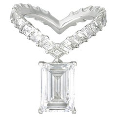 Emerald-Cut Diamond Ring, 4.54 Carats