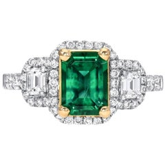 Emerald Cut Emerald Ring 1.24 Carats