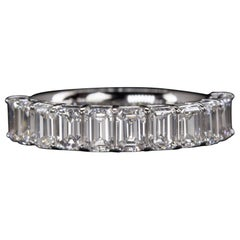 Emerald Cut Eternity Diamond Wedding Ring