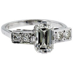 Emerald Cut Natural Diamond Ring