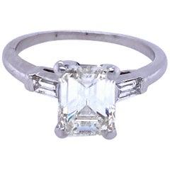 Emerald Cut Three-Stone Engagement Ring