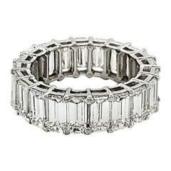 Emerald Cut Wedding Band with 11.50 Carat of Diamonds