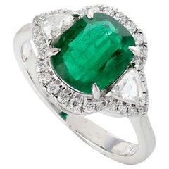 Emerald Diamond 18 Karat Gold Ring