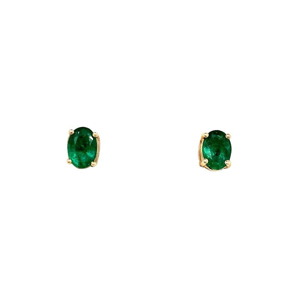 Emerald Diamond Earring 14 Karat Yellow Gold 1.5 Carat Certified