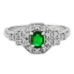 Keith Davis Emerald Diamond Platinum Ring For Sale At 1stdibs