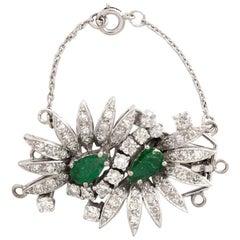 Emerald Diamond White Gold Clasp